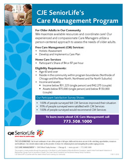 CJE SeniorLife's Care Management Program