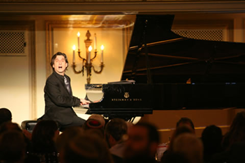 Guest artist, award-winning actor and concert pianist Hershey Felder performing at CJE SeniorLife's annual fundraising gala, Celebrate CJE, held September 8 at Palmer House Hilton.
