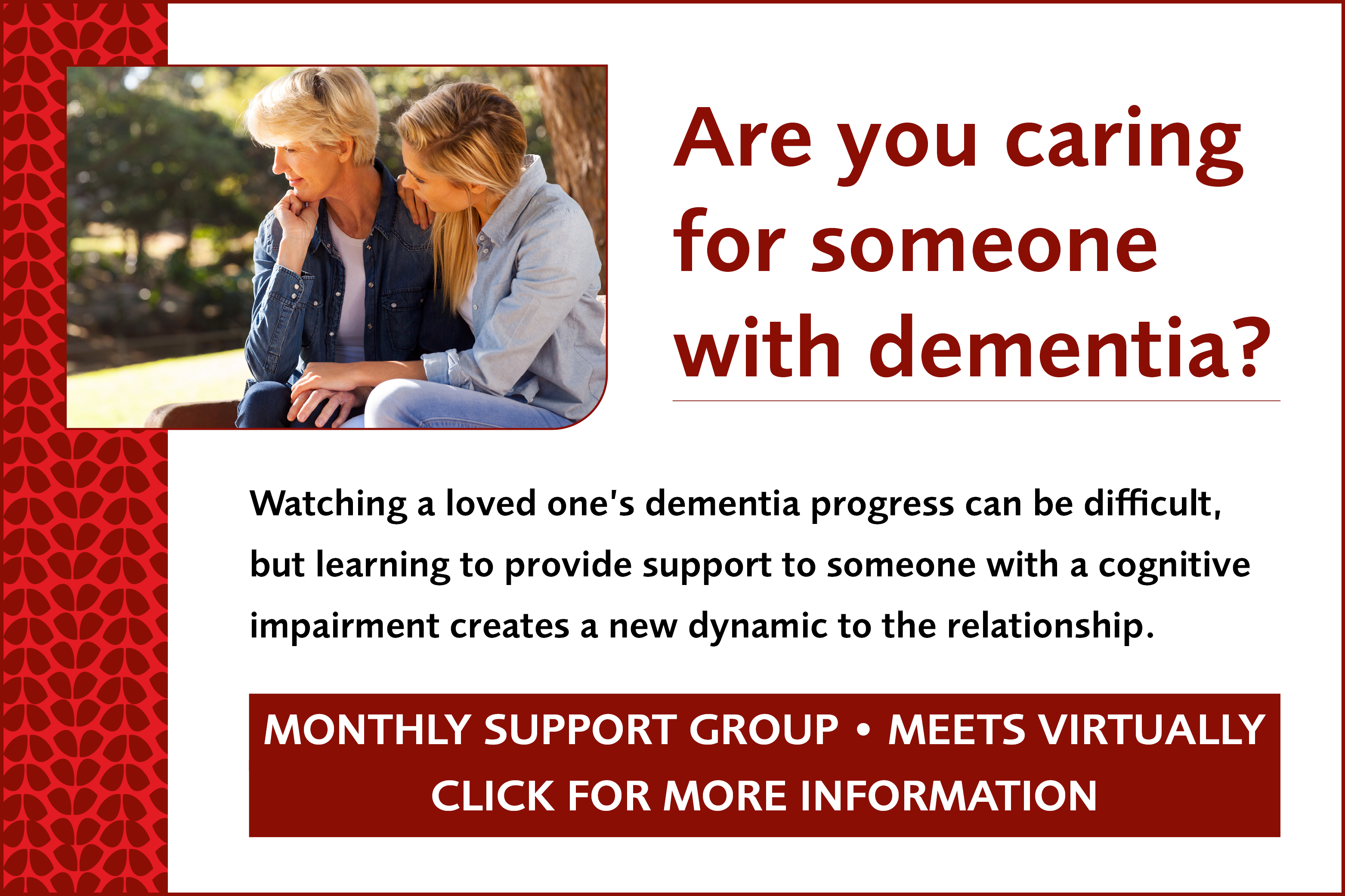Weinberg Alzheimer's Support Group for Caregivers