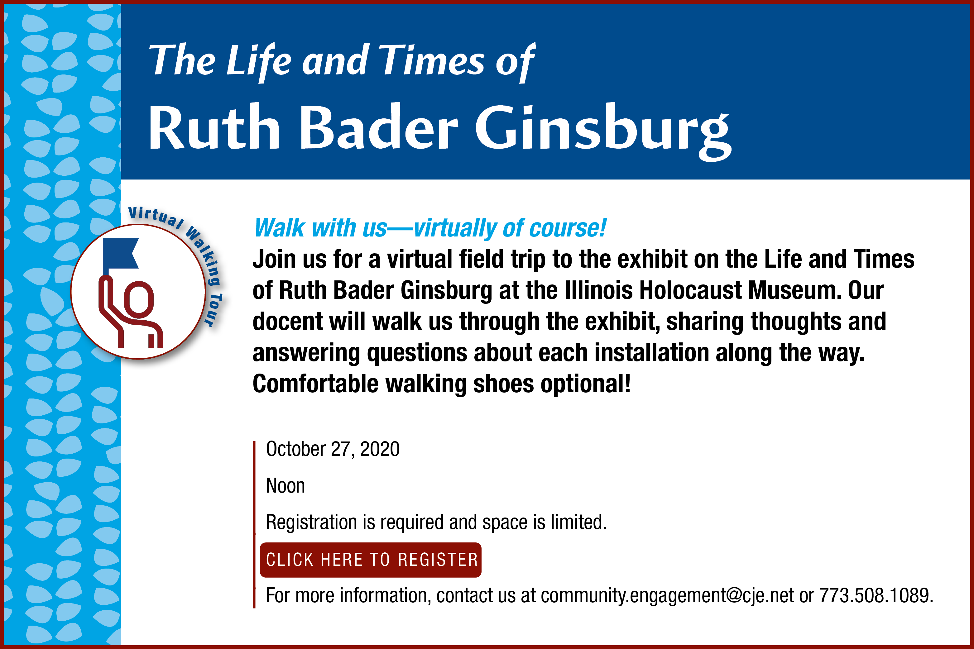 Life and Times of Ruth Bader Ginsburg at the Illinois Holocaust Museum