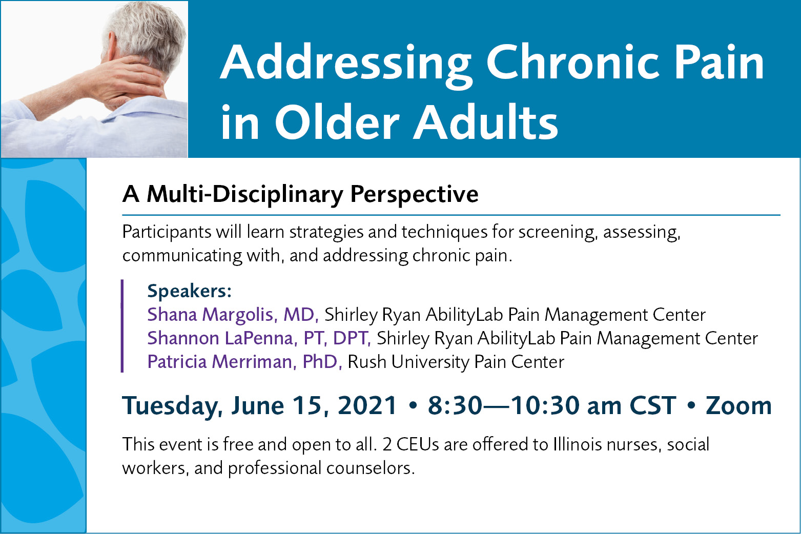 Addressing Chronic Pain in Older Adults