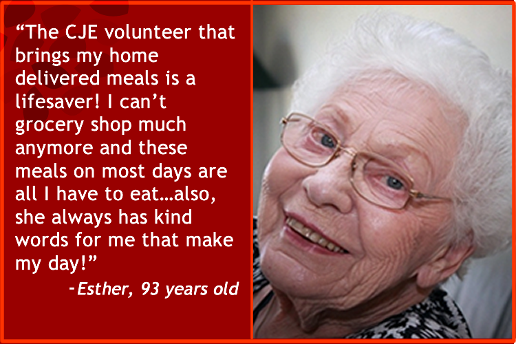 CJE SeniorLife client testimonial about Volunteer Serives