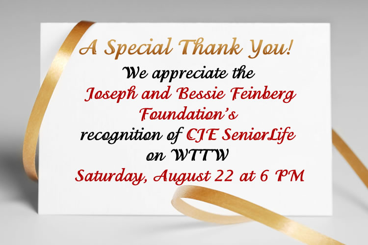 A Special Thank You to Feinberg Foundation