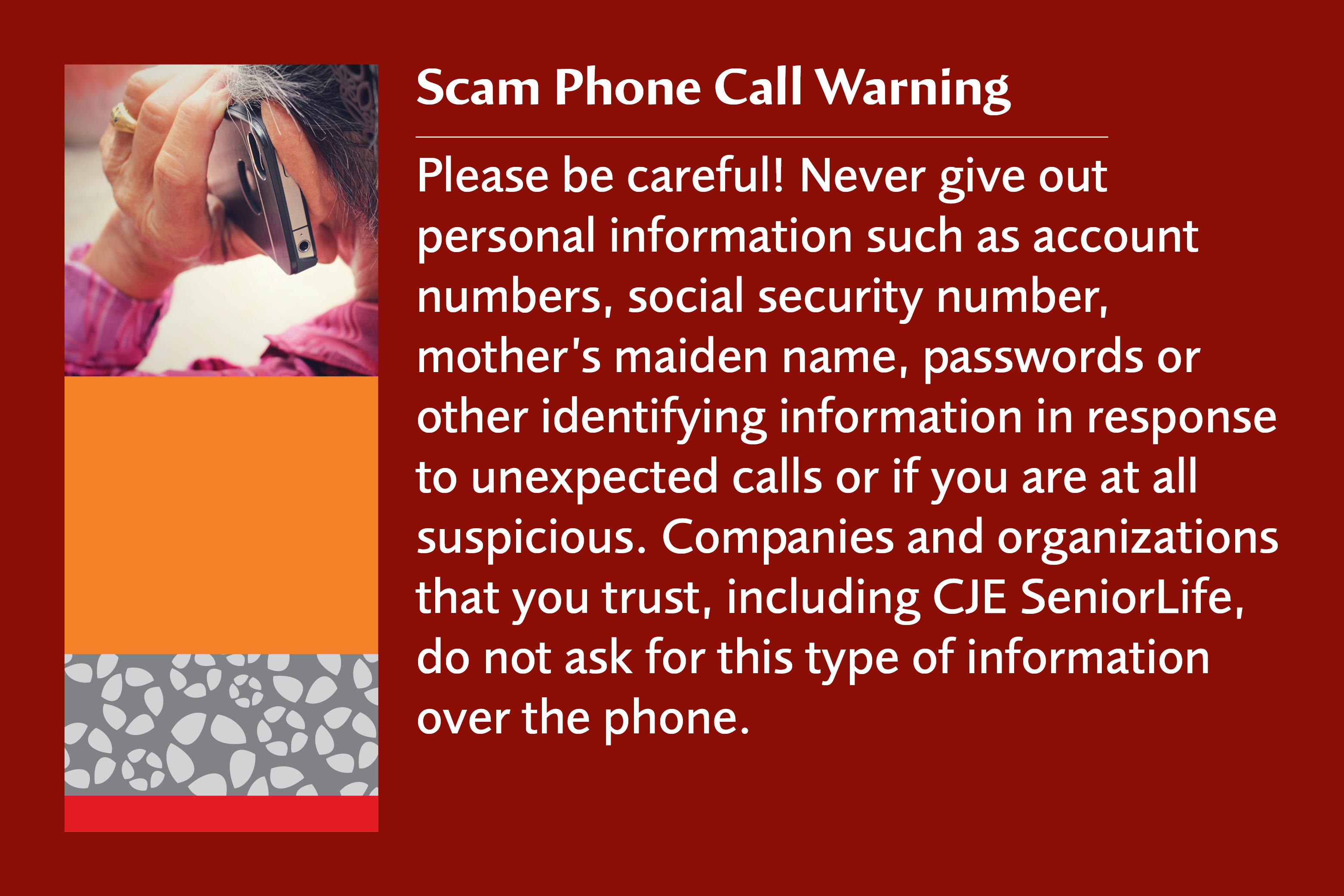 Phone spoofing warning
