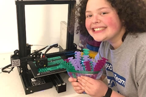 When Shayna Weinstein, a sophomore at Vernon Hills High School, received a 3D printer as a gift this past Hanukkah, little did she know that she would be making plastic mask clips with it during the Coronavirus pandemic. But she soon realized the need and jumped into action.