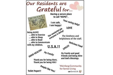 Gratitude Galore at Weinberg Community!