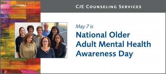 National Older Adult's Mental Health Awareness Day