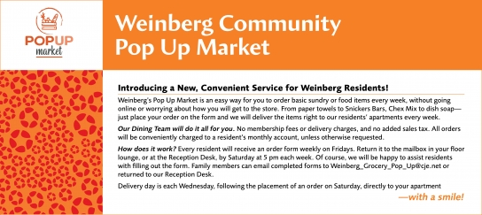 Weinberg Community Pop-Up Market