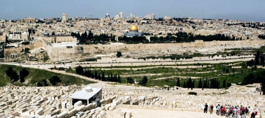 The view of Jerusalem from Mount of Olives