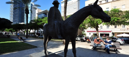 The Statue of Meir Dizengoff on Rothschild Blvd