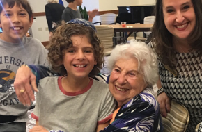 Sixth Graders visit the Gidwitz Place for Assisted Living