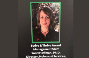 Winner of The Strive and Thrive Award -- 2018
